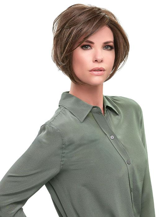 Angled layers can be flipped out for a sassy shag or super sleek bob