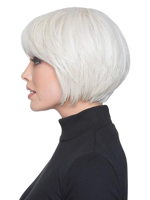 Perfectly-in-place bangs and a tapered nape