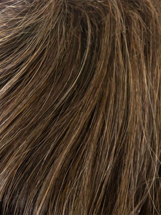 ROCKY-ROAD | Medium Chestnut Brown Highlighted with Strawberry Blonde and Ash Blonde
