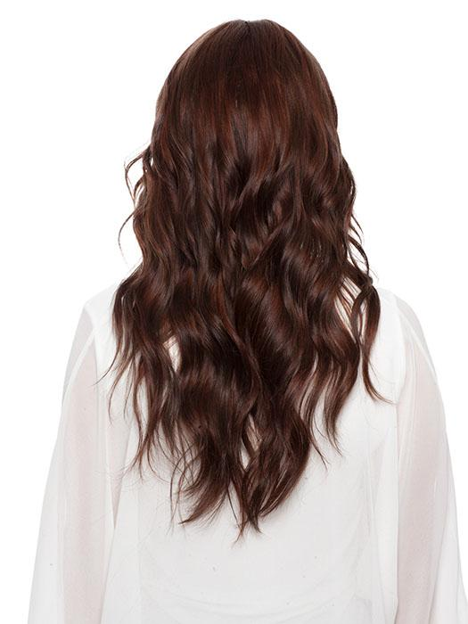 LIZ B by  WIG PRO in OPUS-ONE Blend of Medium Chestnut Brown, Medium Auburn and Dark Auburn
