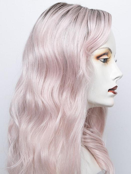FS60/PKS18 FROST | Pure White with Pink Blended, Shaded with Dark Natural Ash Blonde
