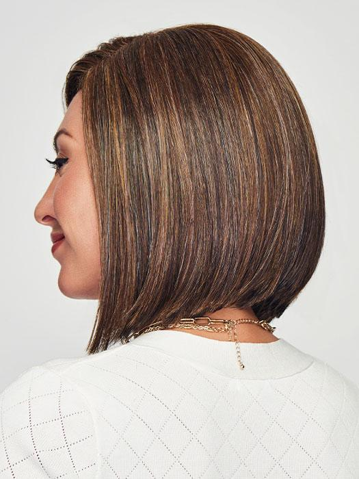 This A-line bob has a shorter back
