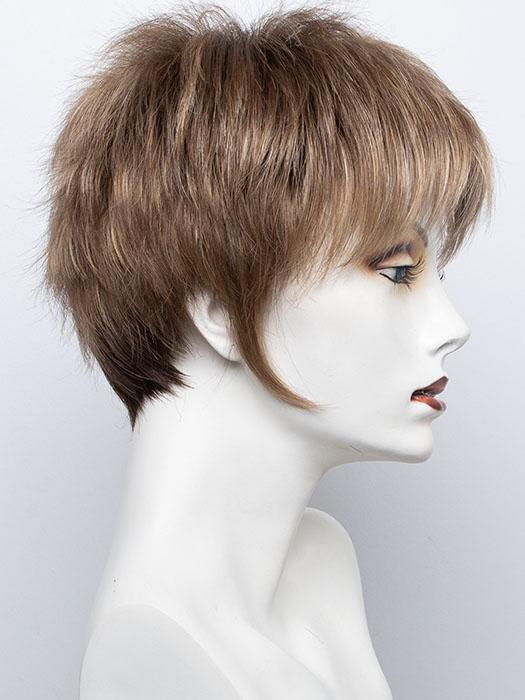 Mochaccino-R | Rooted Dark with Light Brown base with Strawberry Blonde highlights