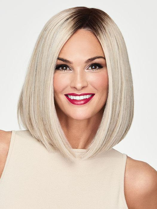 CURRENT EVENTS by Raquel Welch in RL16/22SS SHADED ICED SWEET CREAM | Pale Blonde with Slight Platinum Highlighting and Dark Roots