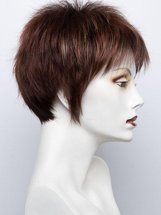 Razberry Ice-R | Rooted Dark Medium Auburn base with Copper and Strawberry Blonde highlights