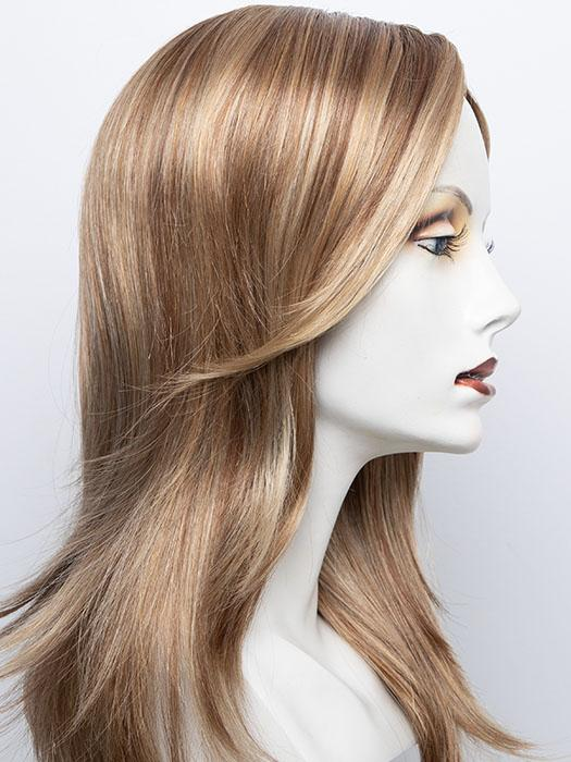 14/26S10 | Shaded Pralines & Cream-Light Gold Blonde and Medium Red-Gold Blonde Blend, Shaded with Light Brown