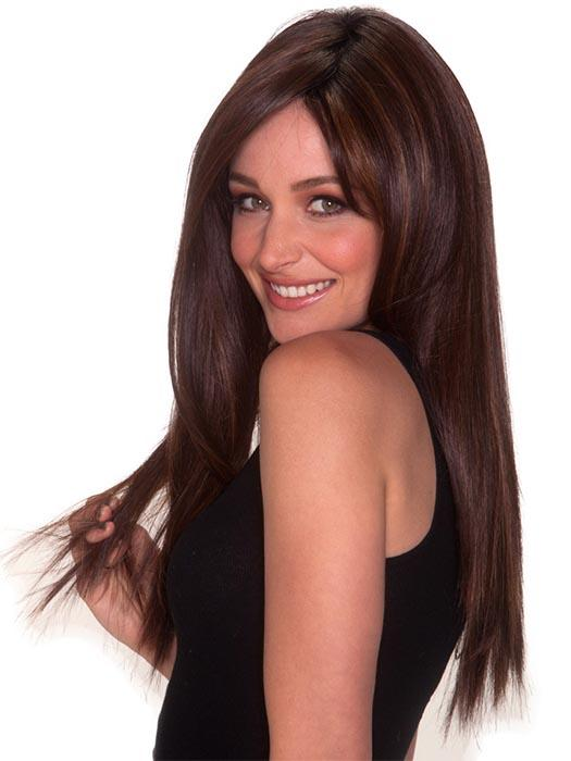 Beautiful hand-made lace front not only delivers extremely natural hairline but also provides an endless option for versatility