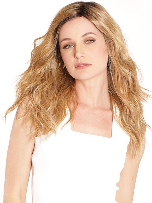 The Rose Ella Wig by BelleTress has long, loose beach waves that represent the classic California girl attitude
