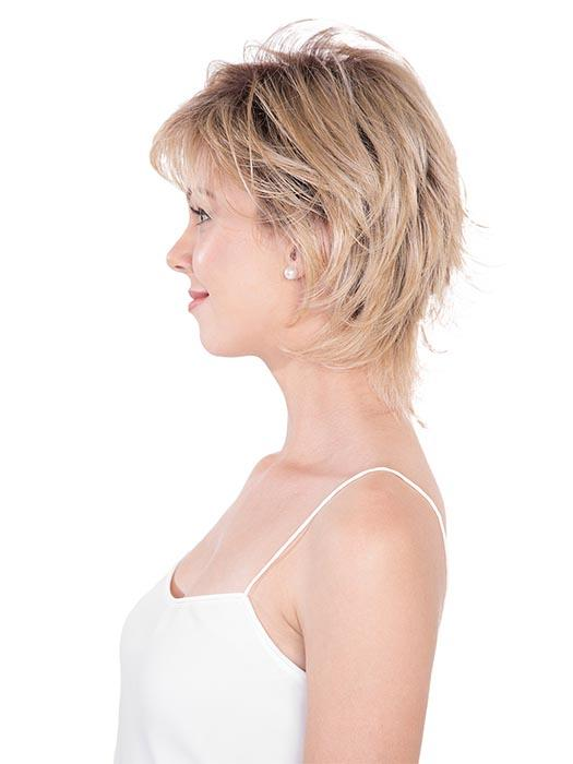 The lace front and partial monofilament cap create a comfortable and natural look.