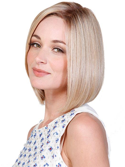 Featuring a lace front finish, this airy mid-length bob can be fit right to your hairline