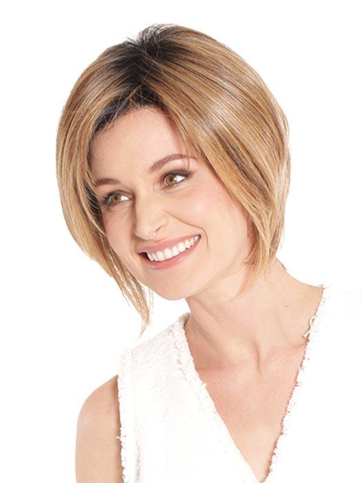 The Irish Coffee Wig by BelleTress is a beautifully layered bob that tapers at the nape, delivering modern sophistication