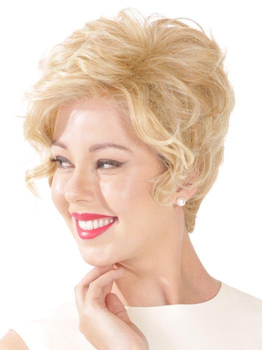 Kahlua Wig by Belletress is a whirl of soft and seductive curls tapered into a natural neckline