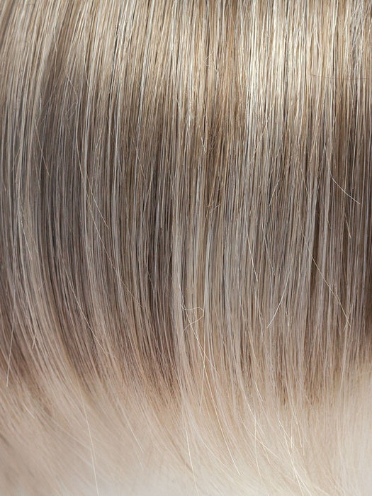 ICE-BLOND | Ashy blond base with white gold tips with highlights around face