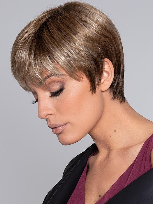 PIXIE by ELLEN WILLE in SAND MULTI ROOTED | Lightest Brown and Medium Ash Blonde Blend with Light Brown Roots
