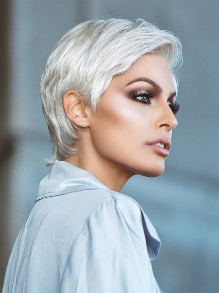 Short Grey Wig by Ellen Wille Wigs | monofilament hand tied top