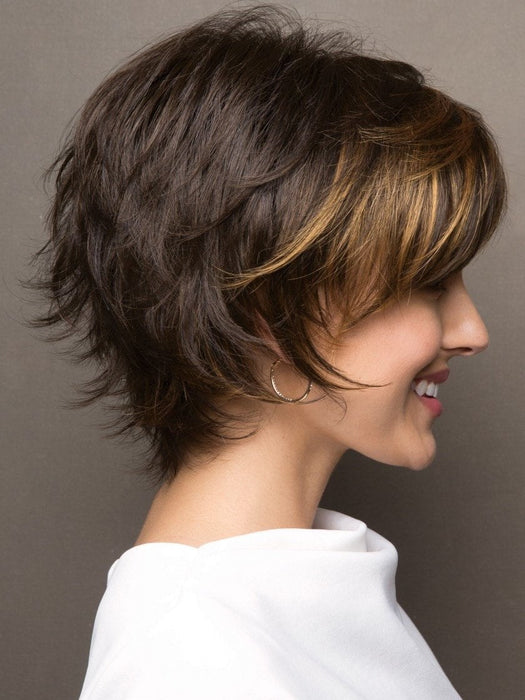 The ready-to-wear synthetic hair looks and feels like natural hair.