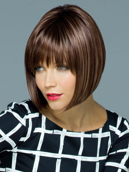 TORI by Rene of Paris in AUBURN-SUGAR-R | Rooted Dark with a Medium Auburn base with a Dark Strawberry Blonde highlight