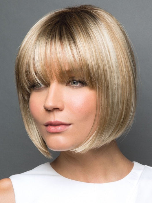 TORI by Rene of Paris in CREAMY-TOFFEE-R | Light Platinum Blonde and Light Honey Blonde evenly blended with dark roots