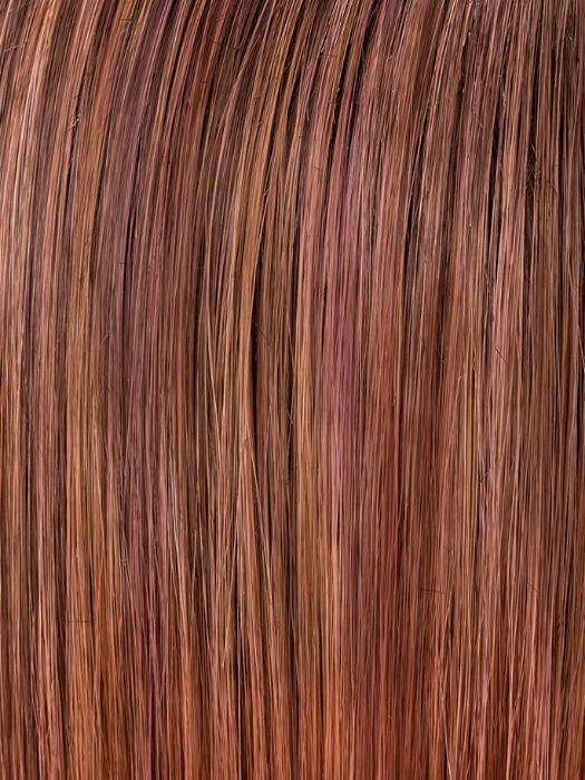 ROSEWOOD ROOTED | Medium Dark Brown Roots that Melt into a Mixture of Saddle Brown and Terra-Cotta Tones with Dark Roots