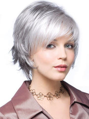 SKY LARGE by Noriko | SILVER STONE  | Silver Medium Brown Blend That Transitions To More Silver Then Medium Brown Then To Silver Bangs