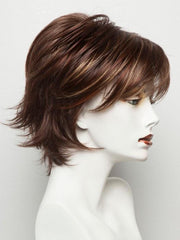 RAZBERRY ICE R | Rooted Dark Auburn with Medium Auburn Base with Copper and Strawberry Blonde Highlights