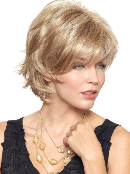 Short Blonde Wig by Noriko,  Synthetic short cut wigs for women