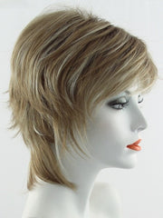 NUTMEG F | Medium Blonde and Honey Brown Base Frosted with Platinum Blonde Highlights