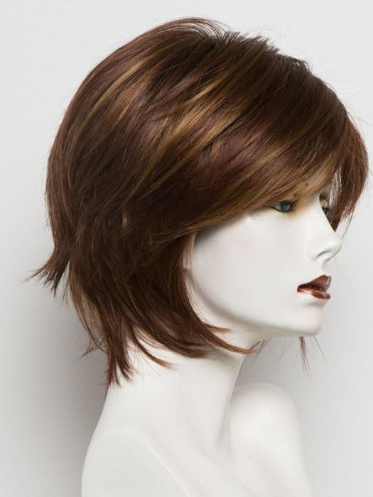 IRISH SPICE R | Dark Auburn with Medium Auburn Base and Dark Honey Blonde highlights with Dark Brown roots