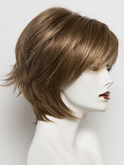 MAPLE SUGAR R | Medium Brown with Light Honey Brown Base and Strawberry Blonde highlights with Dark Brown roots