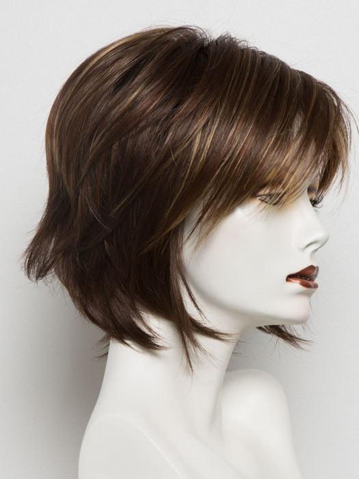 RAZBERRY ICE R | Dark Auburn with Medium Auburn Base with Copper and Strawberry Blonde highlights with Dark Brown roots