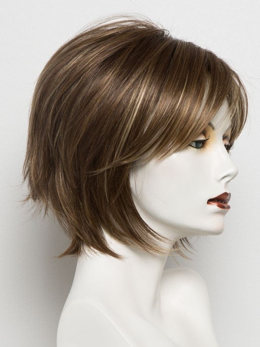 ALMOND SPICE R | Rooted Dark Brown with Medium Brown Base with Honey and Platinum Blonde Highlights