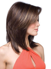 This mid-length wig is breathable and lightweight for a more comfortable fit. Jackson is customer approved!