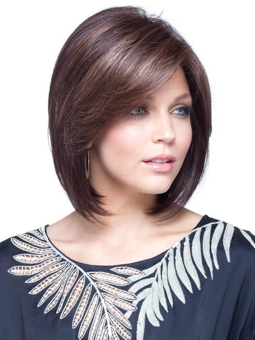 MAY by Noriko in JAVA FROST | Dark Brown Base with Gold Blonde and Light Auburn Highlights
