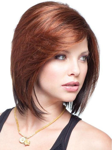MAY by Noriko in CAYENNE SPICE | Copper Red and Brown Evenly Blended Base with Dark Brown Highlights