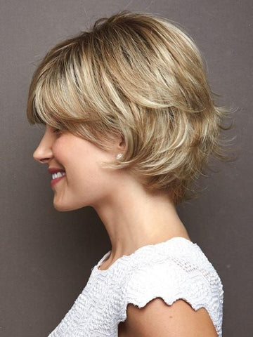 CREAMY TOFFEE - R | Rooted Dark With Light Platinum Blonde And Light Honey Blonde 50/50 Blend