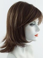 AUBURN-SUGAR | Medium Auburn base with a Dark Strawberry Blonde highlight