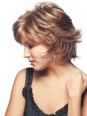 Trim the bang and fringe to fit your face shape | Color: Maple Sugar