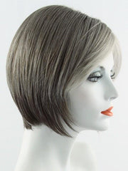 SANDY SILVER | Medium Brown and Silver blend that transitions to more Silver Light Ash Brown then to Silver Bangs