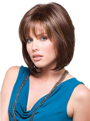 CAMERON by Rene of Paris in JAVA FROST | Dark Brown Base with Gold Blonde and Light Auburn Highlights