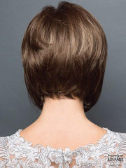 Tapered Neckline. | Color: Honey Wheat R- Light Brown base with Honey Blonde Highlights and a Dark Brown Root.