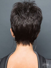 Tapered Neckline | Color: Midnight Pearl- Dark Brown base with Dark Brown and Silver blend with Silver bangs