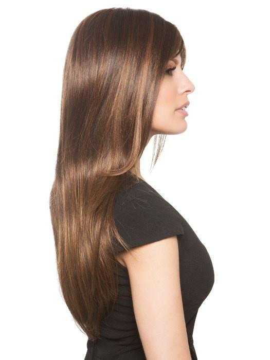 The double monofilament creates natural looking hair growth where the hair is parted
