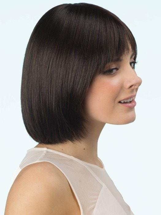 Double Monofilament Wig in color: CAPPUCCINO  | Dark Brown