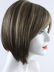 CHOC FROST R | Rooted Dark Brown Base with Honey Blonde and Platinum Highlights