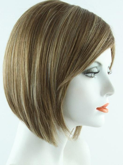 MAPLE SUGAR R | Rooted Medium Brown with Light Honey Brown Base and Strawberry Blonde Highlights
