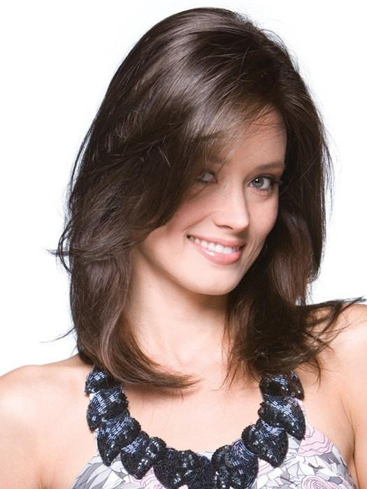 LONG TOP PIECE by Rene of Paris in DARK CHOCOLATE | Dark Brown Blonded with Medium Brown