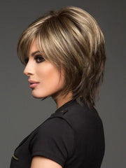 CHOCOLATE FROST R | Rooted Dark Brown Base with Honey Blonde and Platinum Highlights