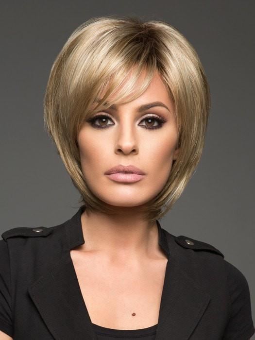 REESE by Noriko in CREAMY TOFFEE R | Rooted Dark Blonde  Evenly Blended with Light Platinum Blonde and Light Honey Blonde