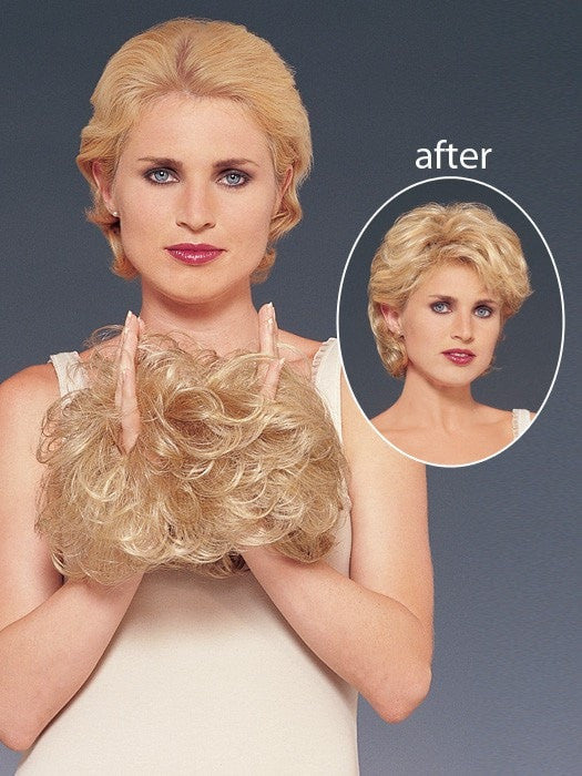 Pull your own hair through the enhancer to blend for a natural appearance.