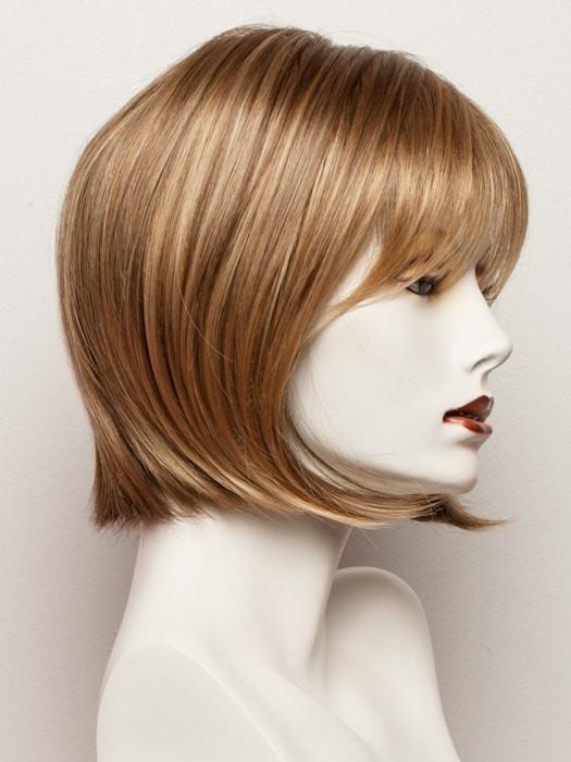 TOASTED-SHINE | Dark Honey Blonde highlights on top and Light Ash Brown base at the nape